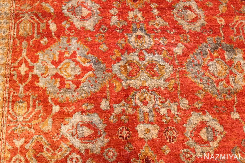 large luxurious antique turkish angora oushak rug 48923 design Nazmiyal