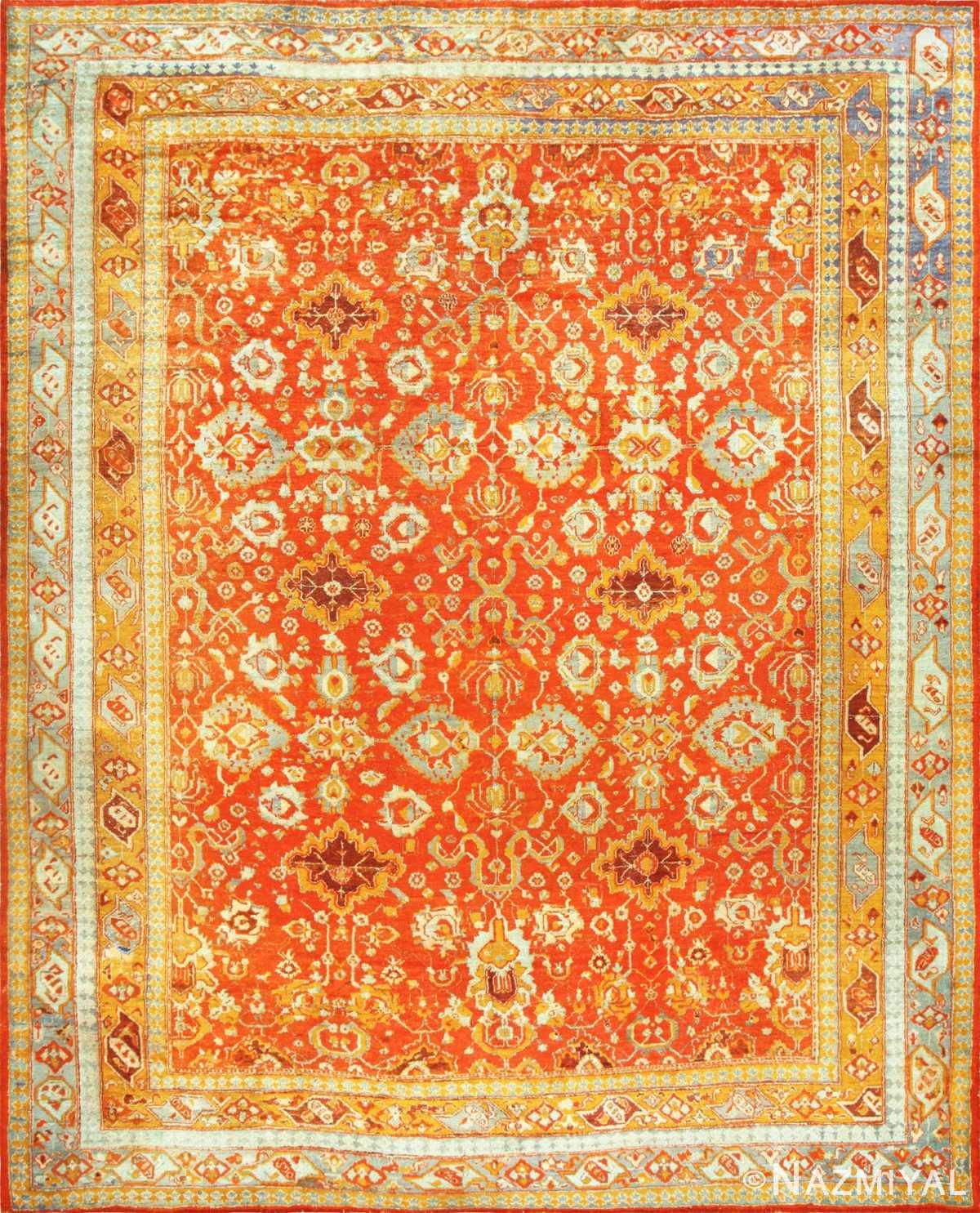 Large Luxurious Antique Turkish Angora Oushak Rug 48923 Nazmiyal