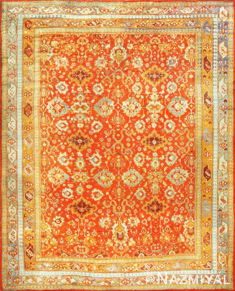 Large Luxurious Antique Turkish Angora Oushak Rug 48923 Nazmiyal