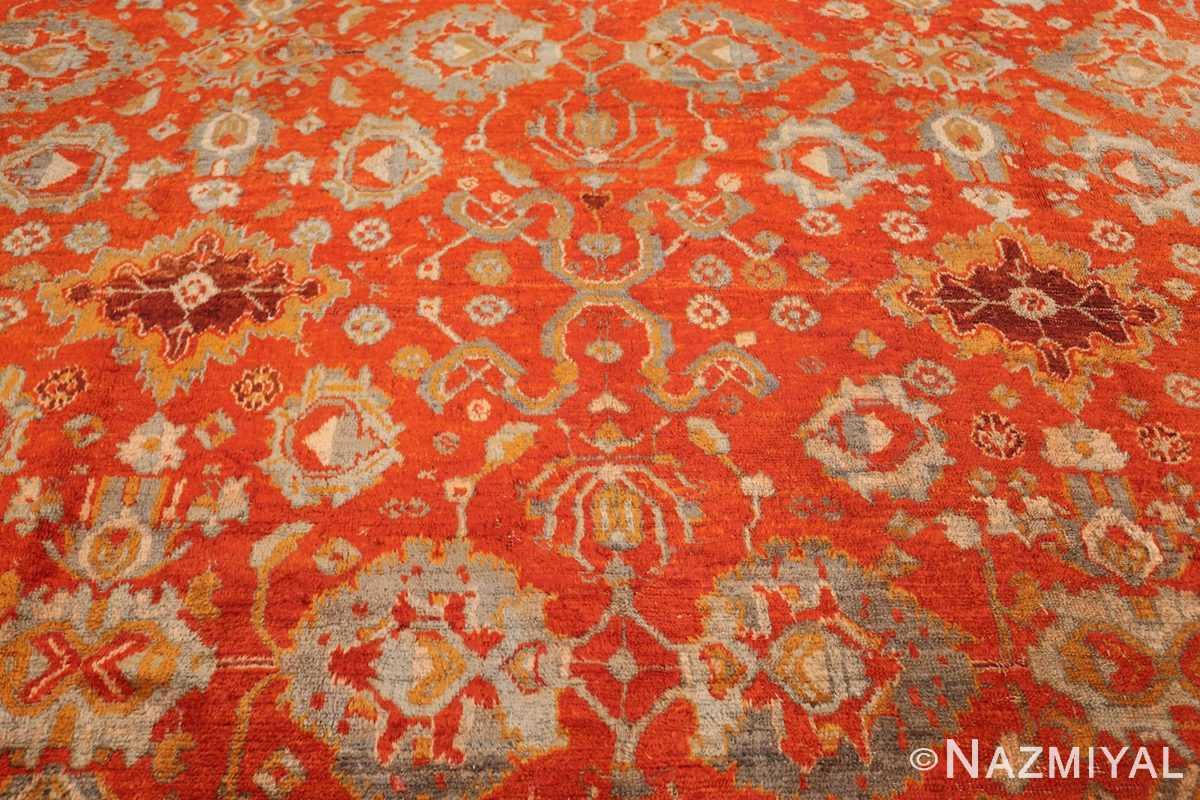 large luxurious antique turkish angora oushak rug 48923 field Nazmiyal