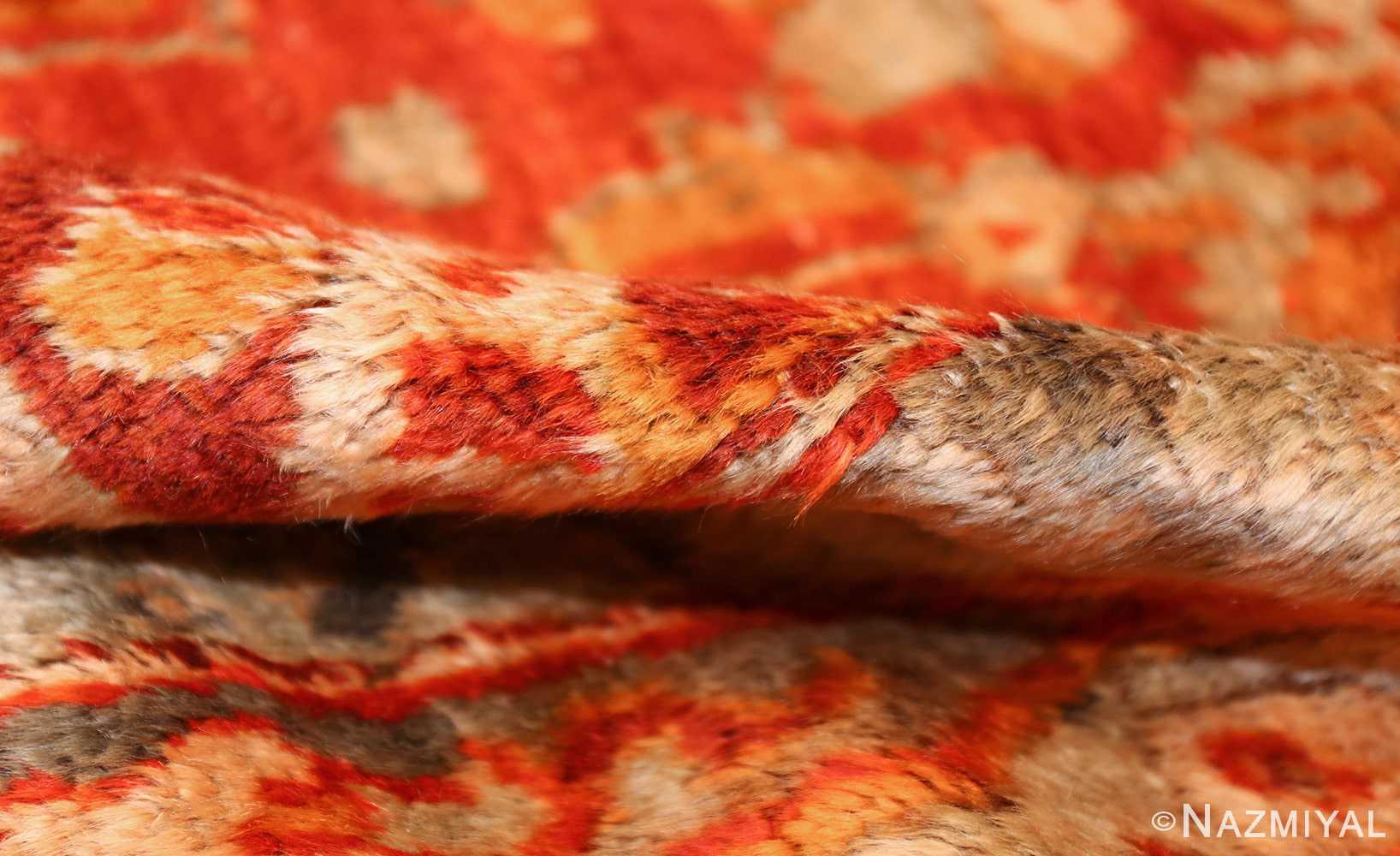 large luxurious antique turkish angora oushak rug 48923 pile Nazmiyal