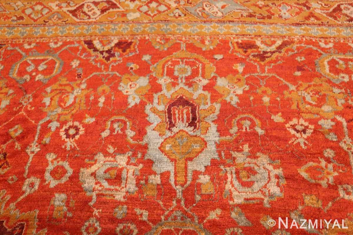 large luxurious antique turkish angora oushak rug 48923 top Nazmiyal