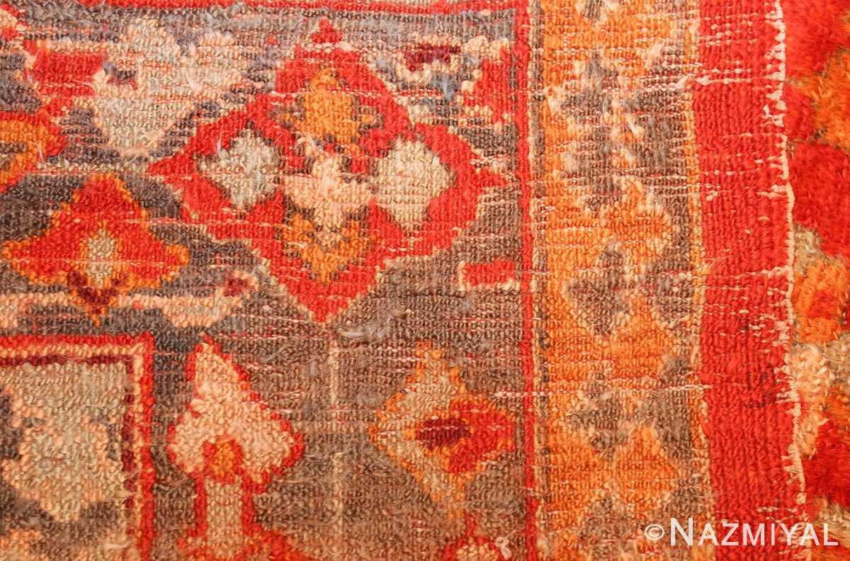 large luxurious antique turkish angora oushak rug 48923 weave Nazmiyal