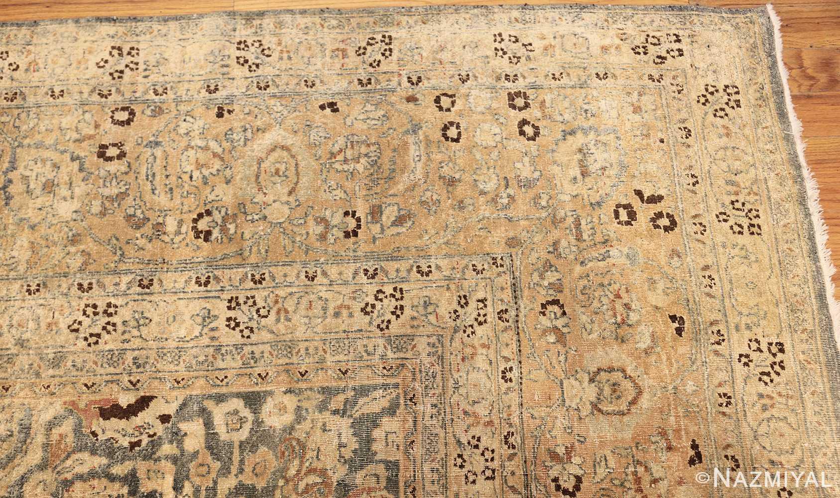 large oversized antique light blue persian khorassan rug 50707 corner Nazmiyal