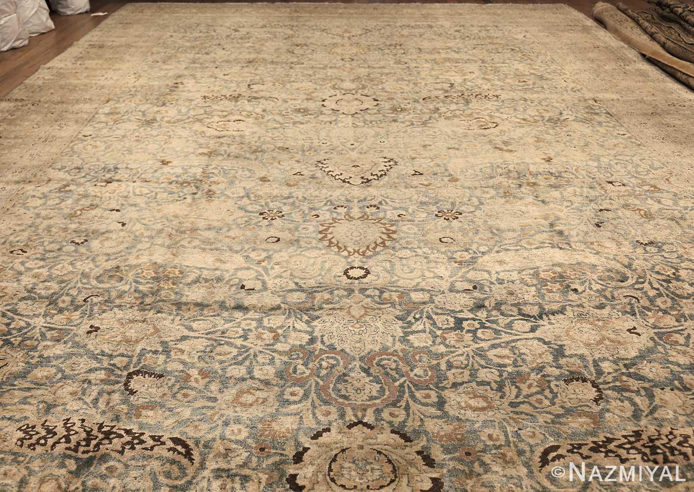 large oversized antique light blue persian khorassan rug 50707 whole Nazmiyal