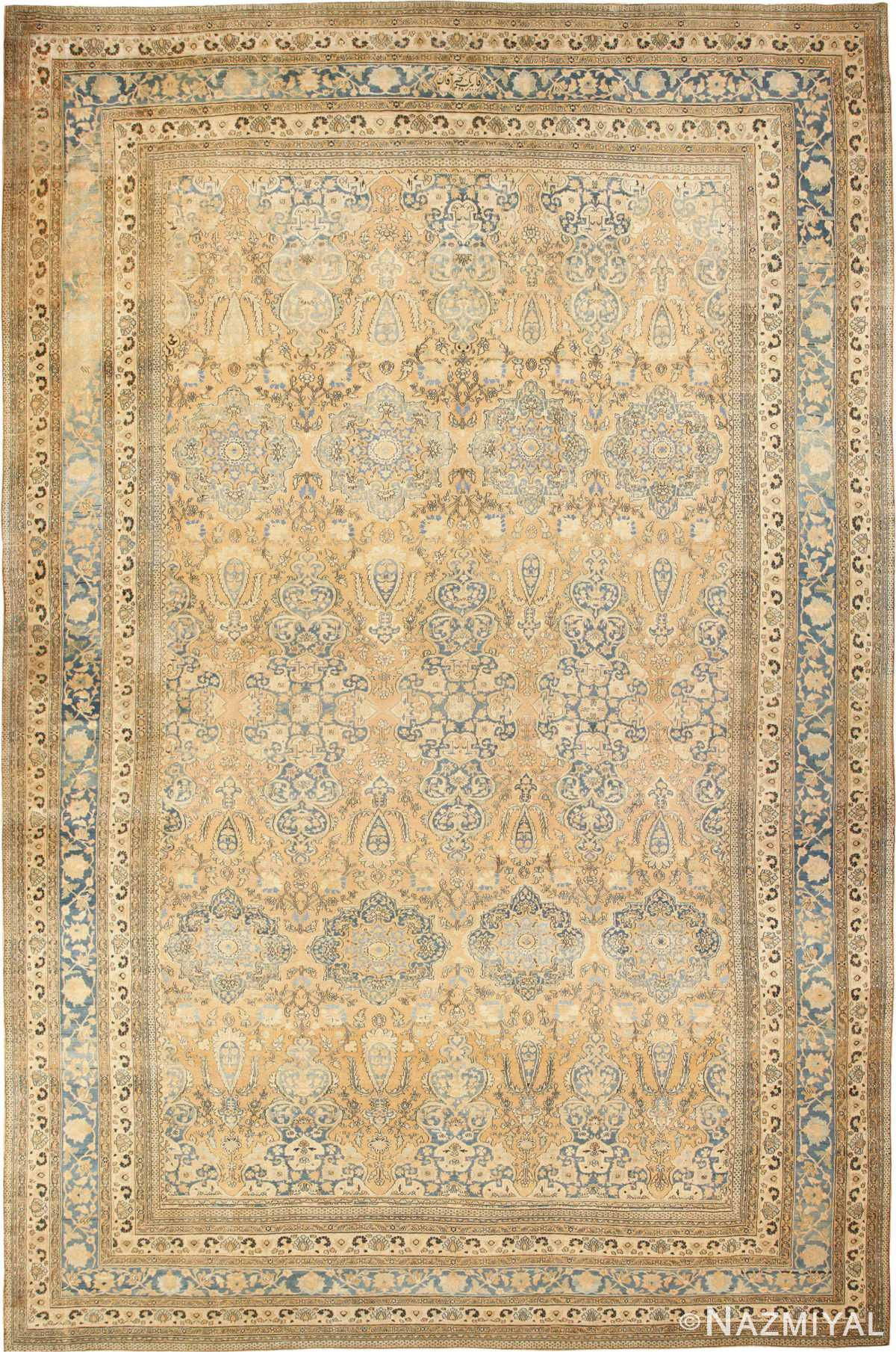 Large Oversized Antique Oriental Persian Khorassan Rug 47699 Nazmiyal