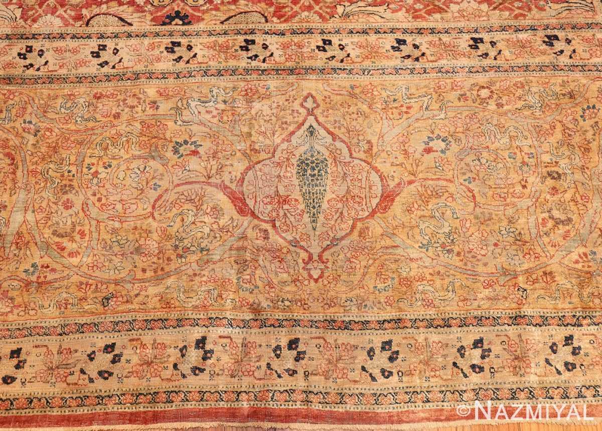magnificent large oversized antique persian silk tabriz haji jalili rug 48981 border Nazmiyal