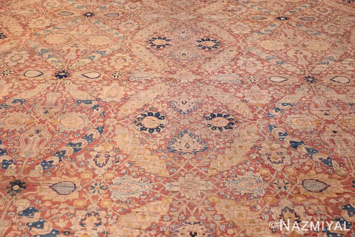 magnificent large oversized antique persian silk tabriz haji jalili rug 48981 field Nazmiyal