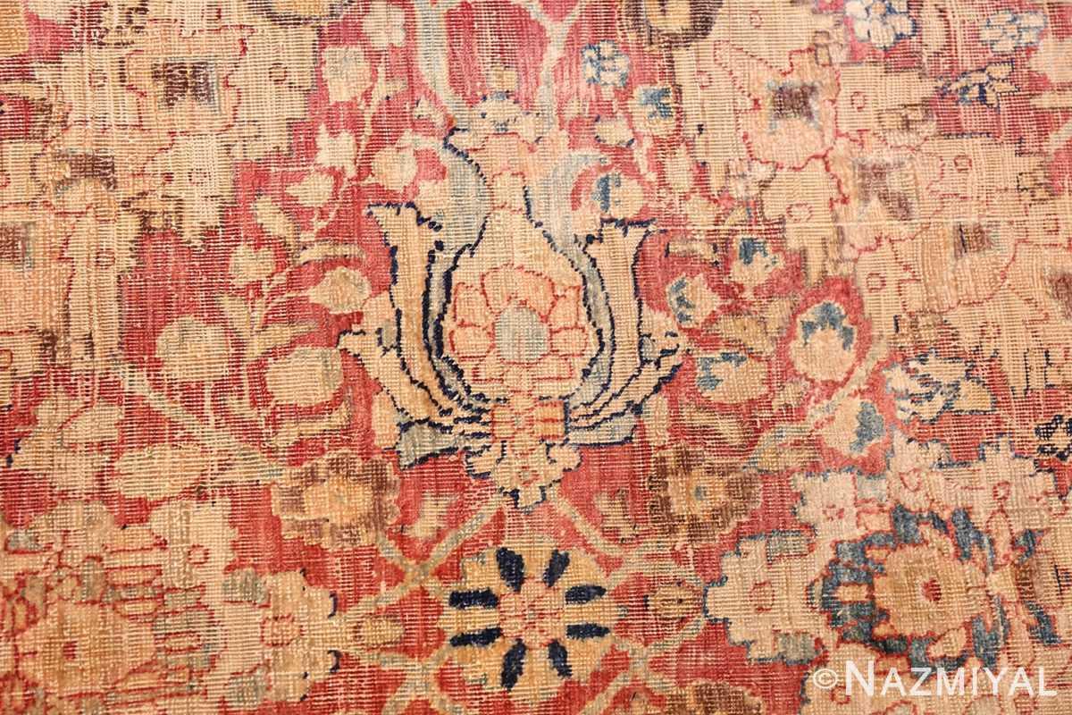 magnificent large oversized antique persian silk tabriz haji jalili rug 48981 flower Nazmiyal