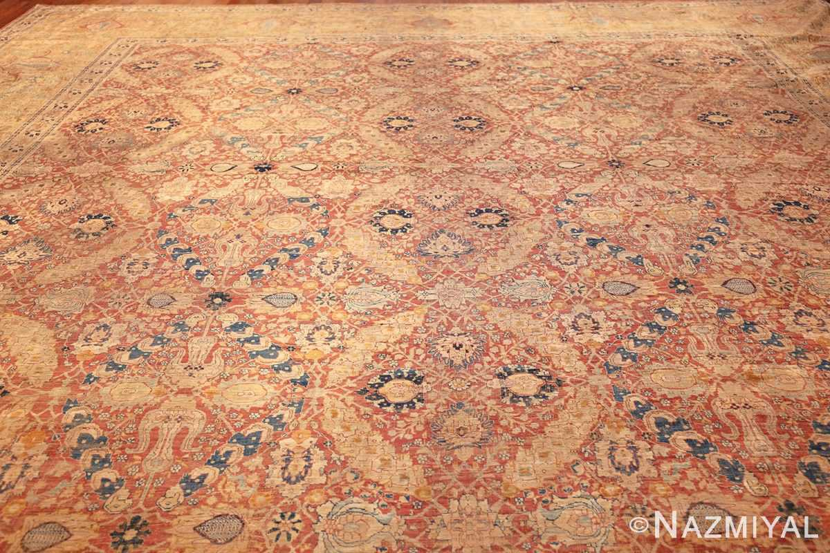 magnificent large oversized antique persian silk tabriz haji jalili rug 48981 full Nazmiyal