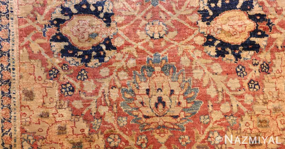 magnificent large oversized antique persian silk tabriz haji jalili rug 48981 gol Nazmiyal