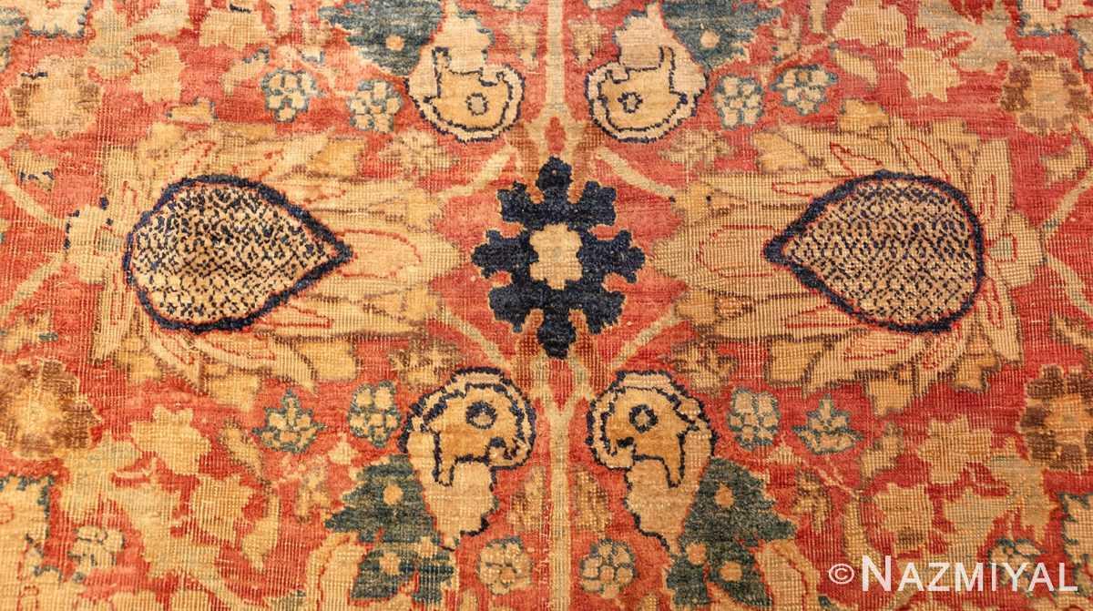 magnificent large oversized antique persian silk tabriz haji jalili rug 48981 peony Nazmiyal