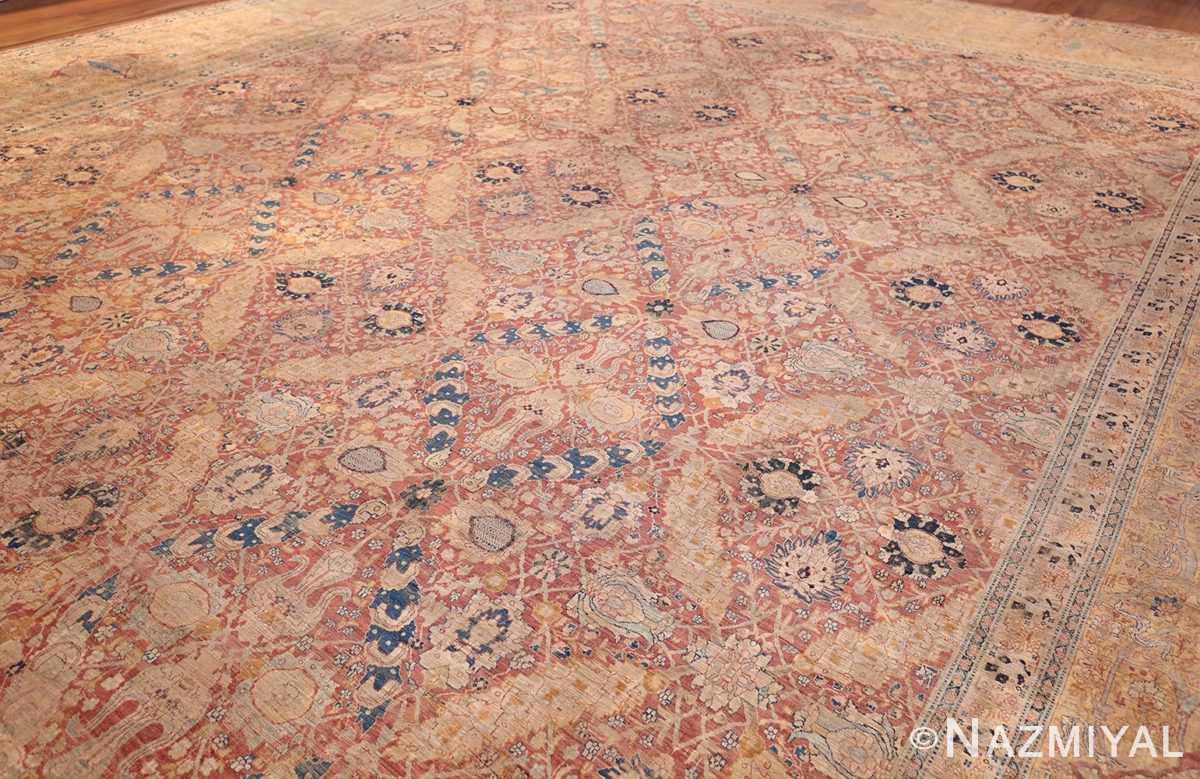 magnificent large oversized antique persian silk tabriz haji jalili rug 48981 side Nazmiyal