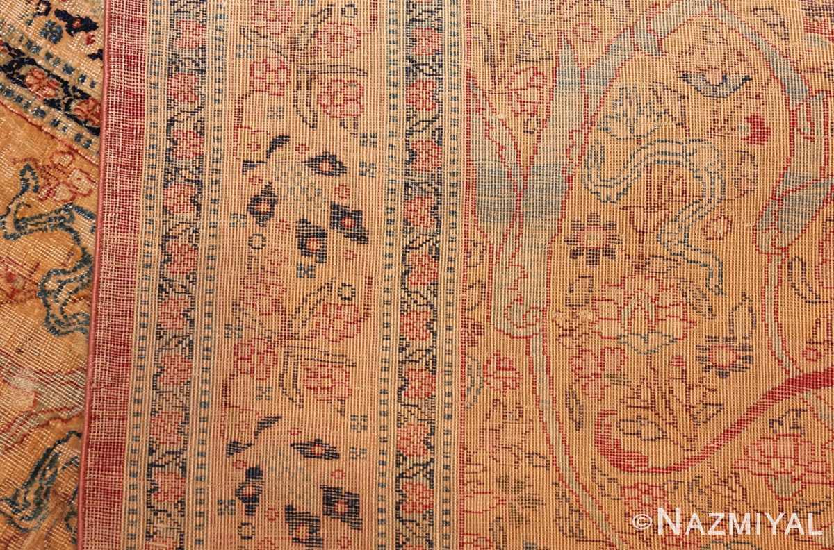 magnificent large oversized antique persian silk tabriz haji jalili rug 48981 weave Nazmiyal