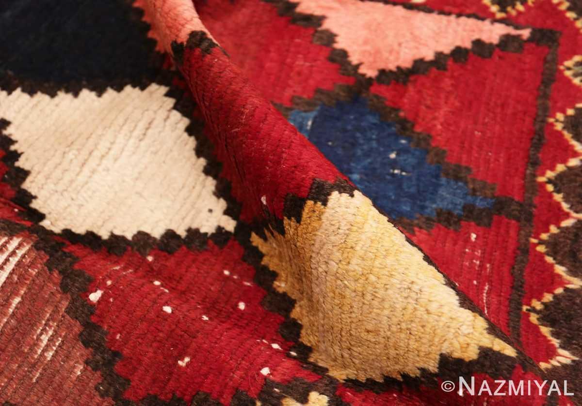 Pile Diamond Shabby chic Vintage Persian Gabbeh rug 48974 by Nazmiyal