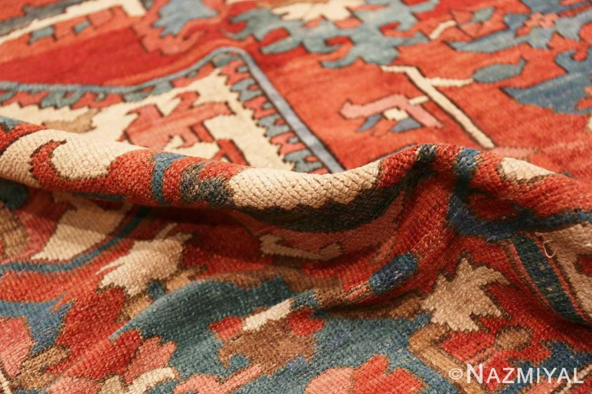 Pile Large geometric Antique Persian Herz Serapi rug 48175 by Nazmiyal