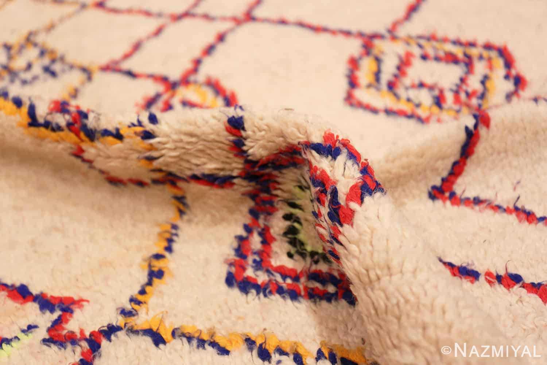 Vintage Shaggy Moroccan Azilal Rug 48949 Nazmiyal Rugs