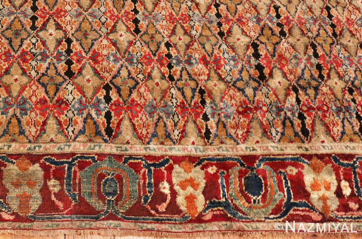Picture of the border of the Rare Small Size Antique Indian Agra Rug 48854