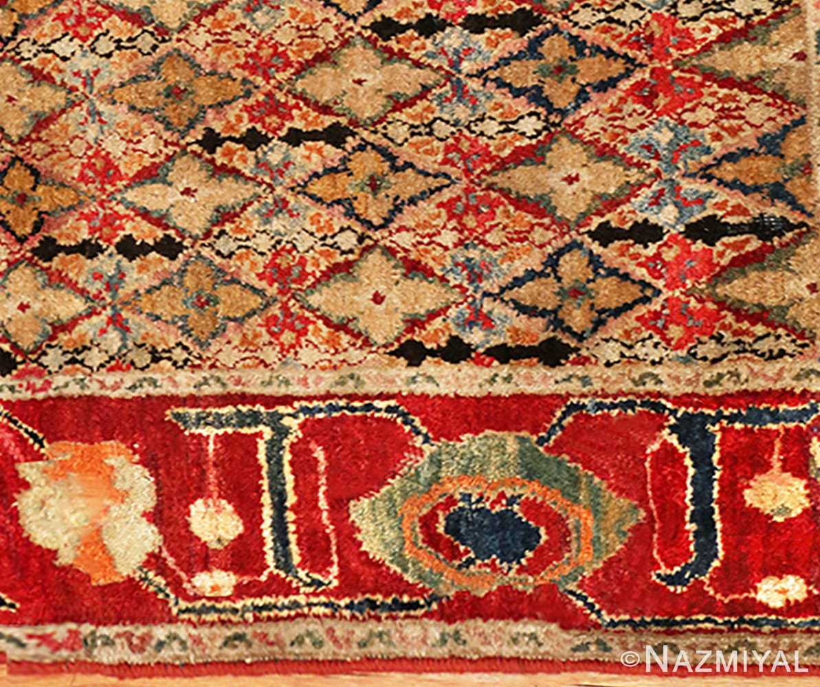 Picture of the close up border of Rare Small Size Antique Indian Agra Rug 48854