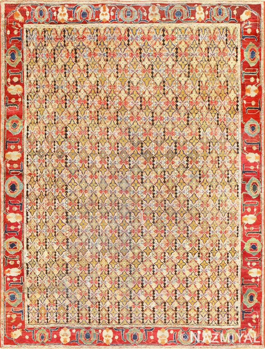 Rare Small Size Antique Indian Agra Rug 48854 Nazmiyal