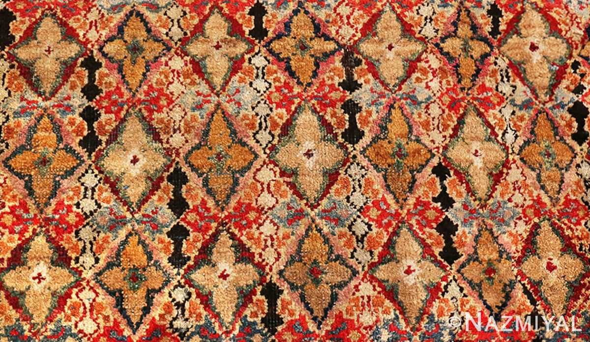 Picture of the details of the Rare Small Size Antique Indian Agra Rug 48854
