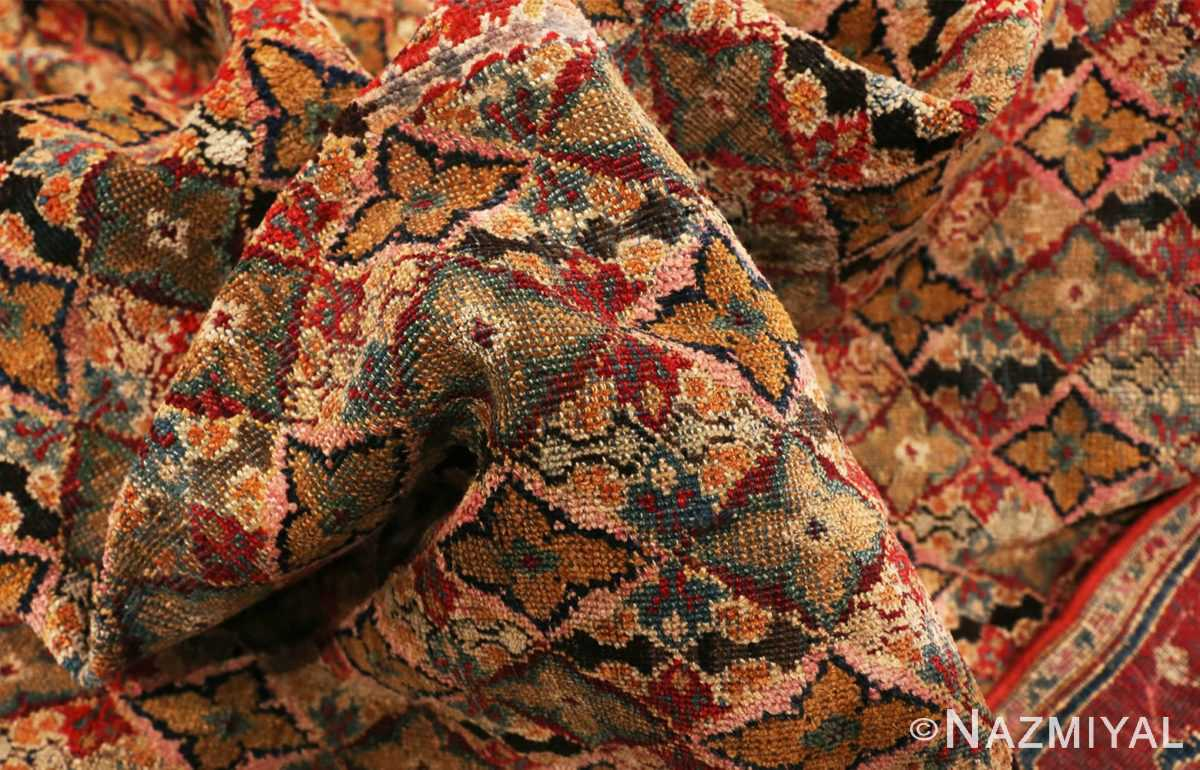 Picture of the Texture of the Rare Small Size Antique Indian Agra Rug 48854