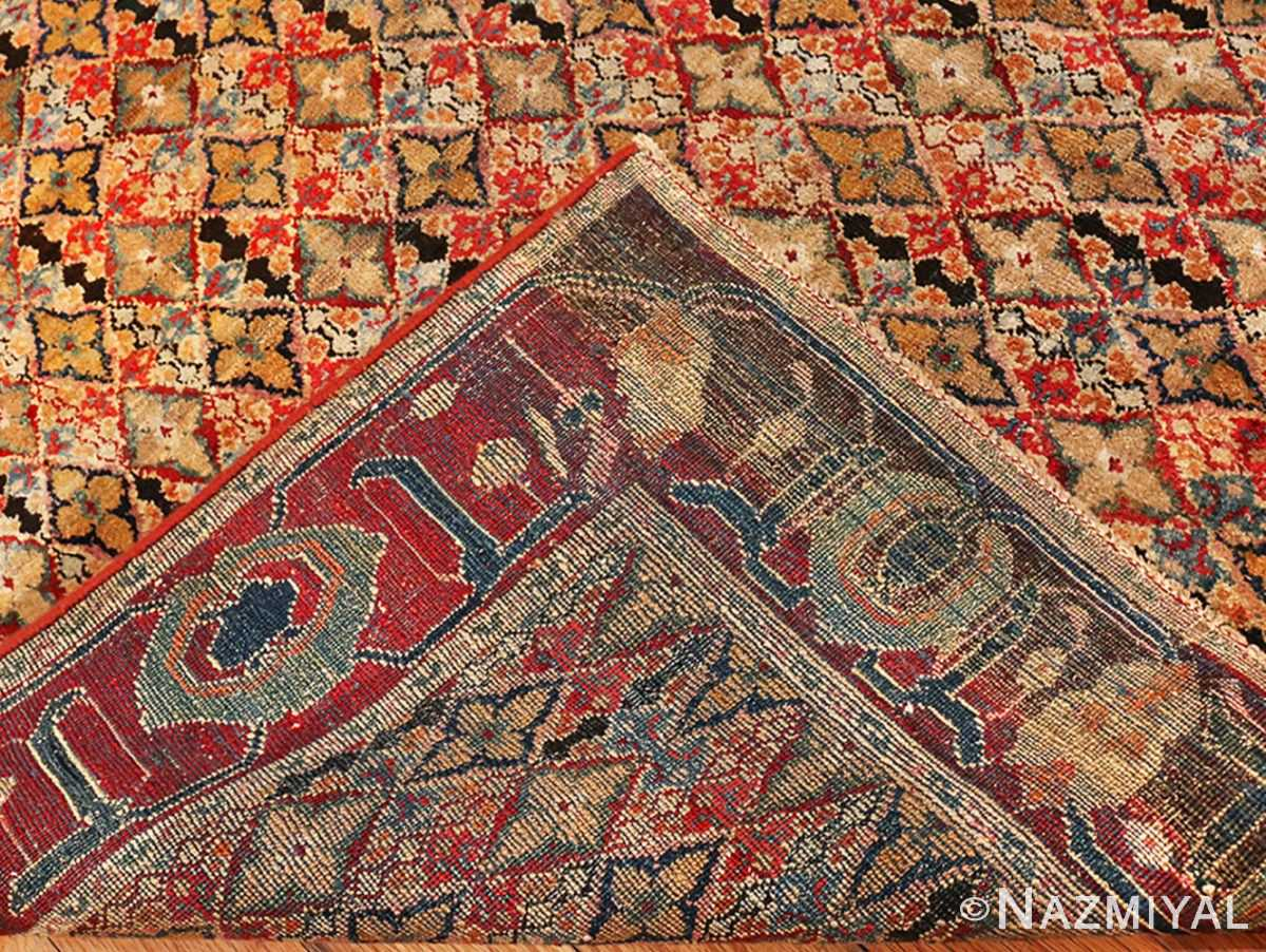 Picture of the weave of the Rare Small Size Antique Indian Agra Rug 48854