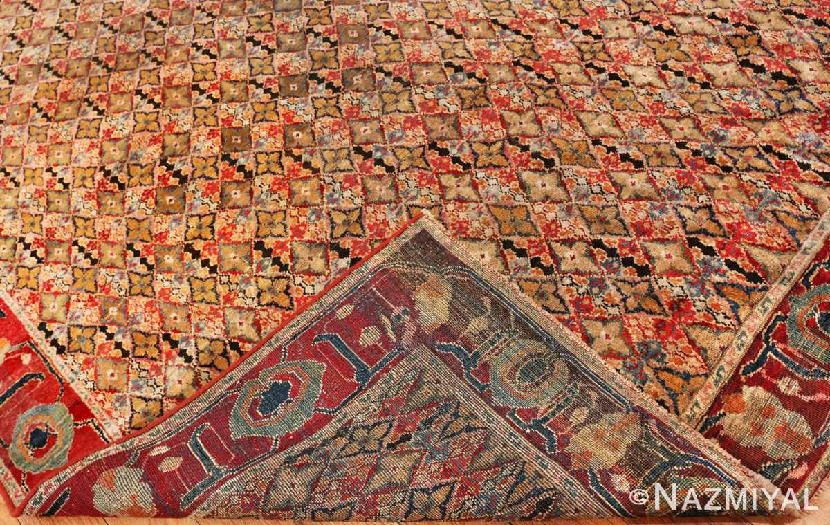 Picture of the weave of Rare Small Size Antique Indian Agra Rug 48854