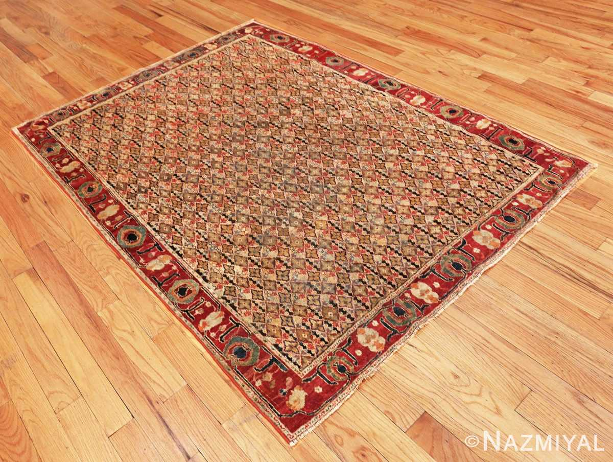Whole of the Rare Small Size Antique Indian Agra Rug 48854