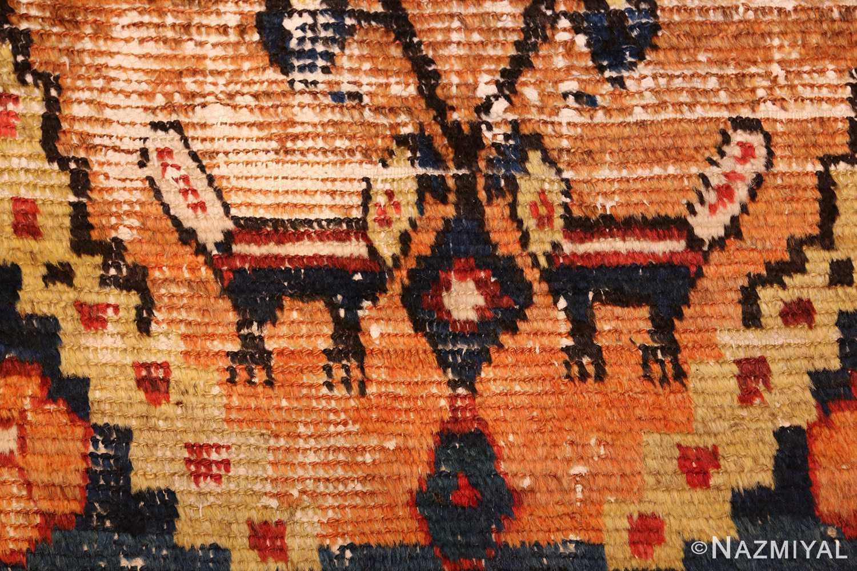 shabby chic tribal vintage gabbeh persian rug 48969 animal Nazmiyal