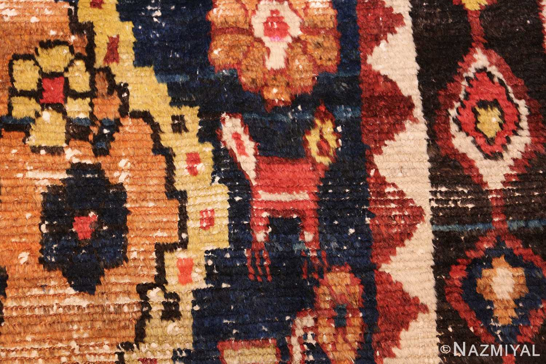 shabby chic tribal vintage gabbeh persian rug 48969 bird Nazmiyal