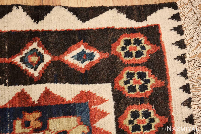 shabby chic tribal vintage gabbeh persian rug 48969 corner Nazmiyal