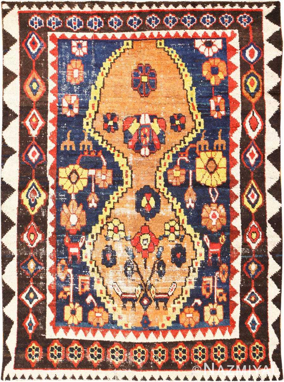 Shabby Chic Tribal Vintage Gabbeh Persian Rug 48969 Nazmiyal