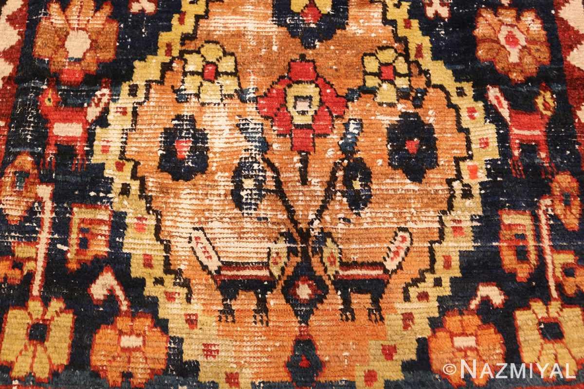 shabby chic tribal vintage gabbeh persian rug 48969 low Nazmiyal