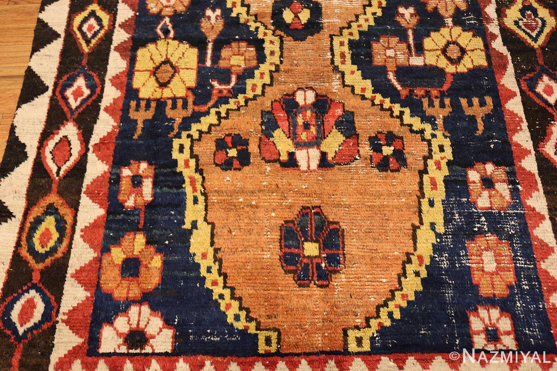 shabby chic tribal vintage gabbeh persian rug 48969 top Nazmiyal