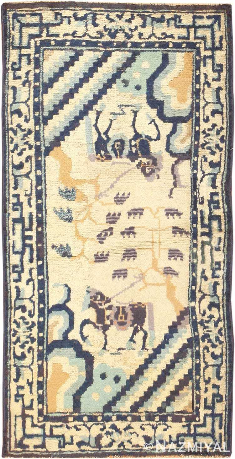 Small Antique Chinese Ningsia Rug 48842 Nazmiyal