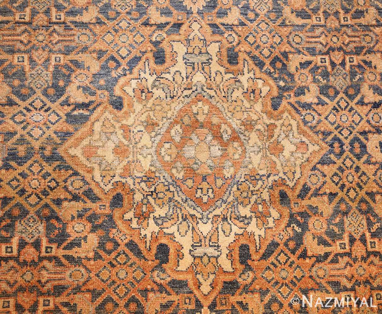 small tribal antique persian malayer rug 50646 medallion Nazmiyal