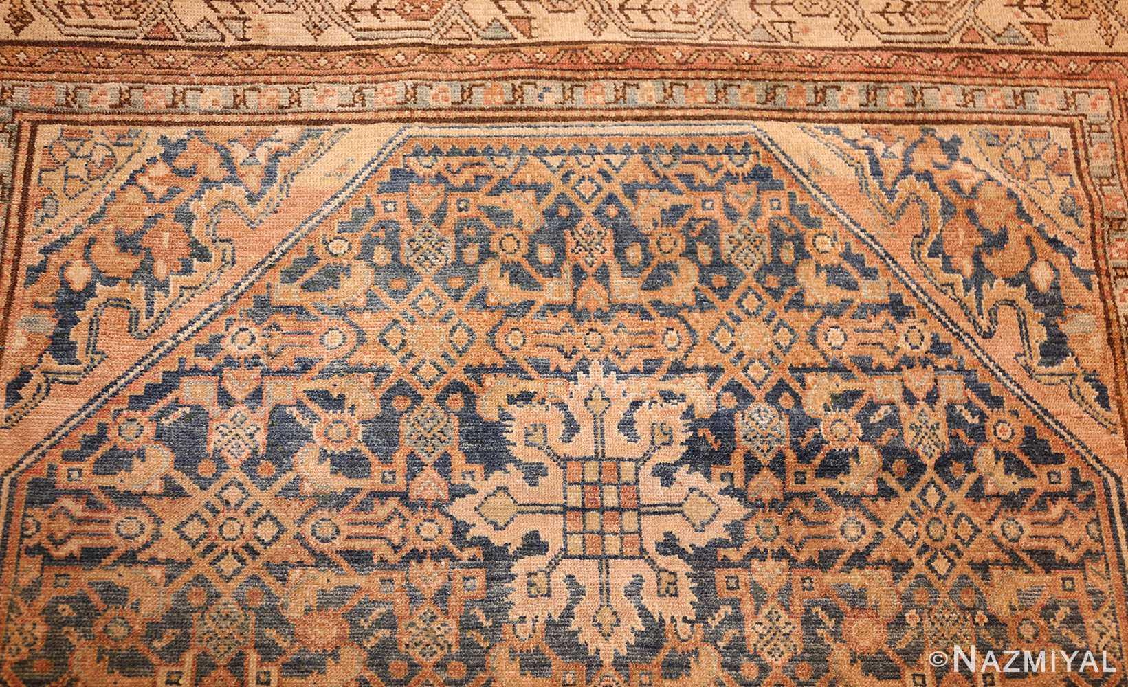 small tribal antique persian malayer rug 50646 top Nazmiyal