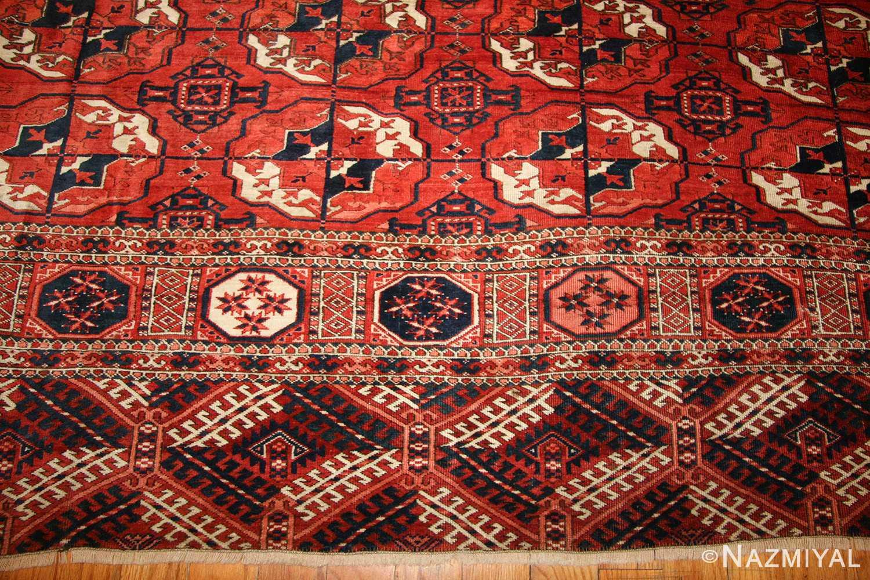 tribal antique room size caucasian turkoman bokara rug 50526 border Nazmiyal