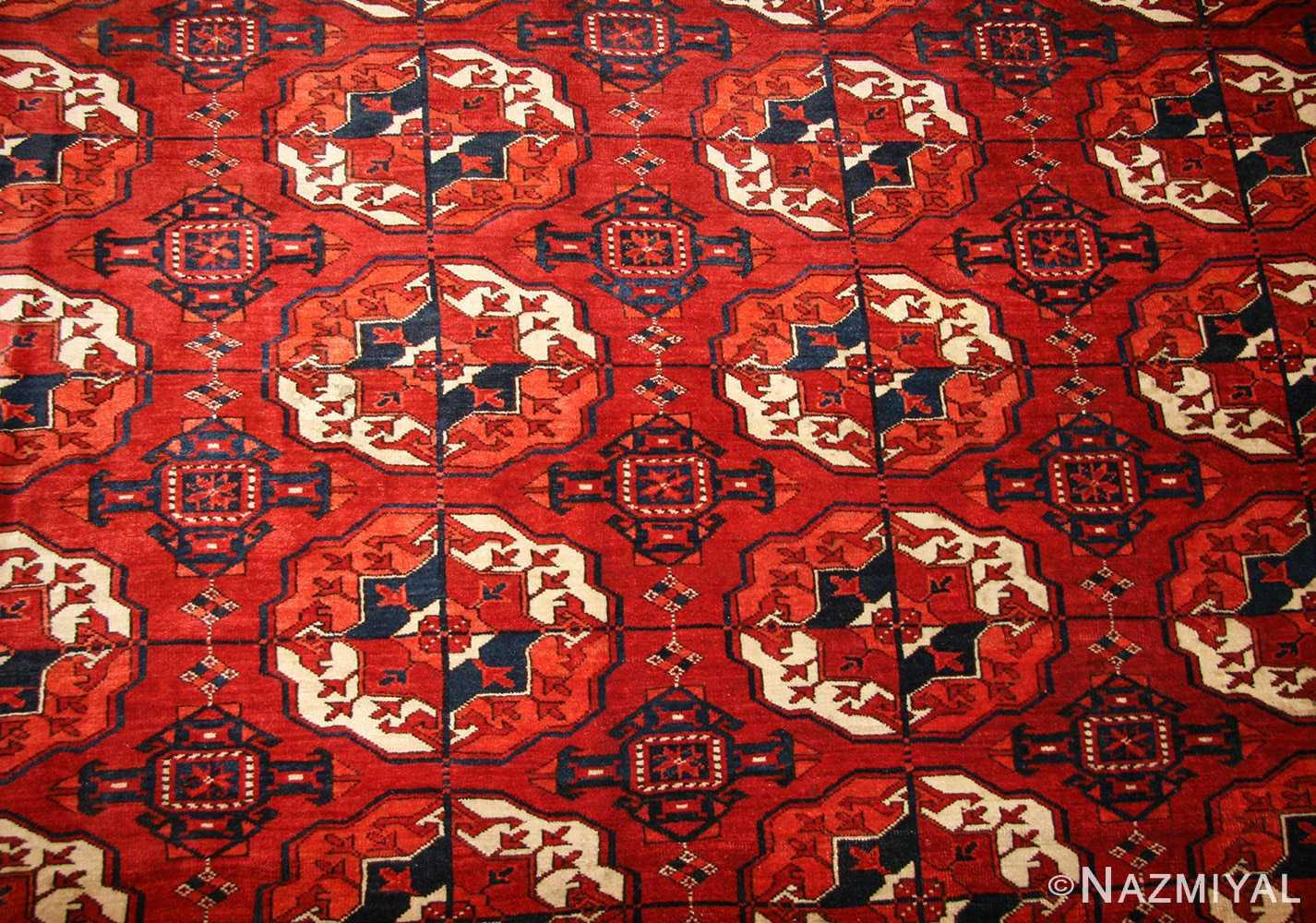 tribal antique room size caucasian turkoman bokara rug 50526 field Nazmiyal