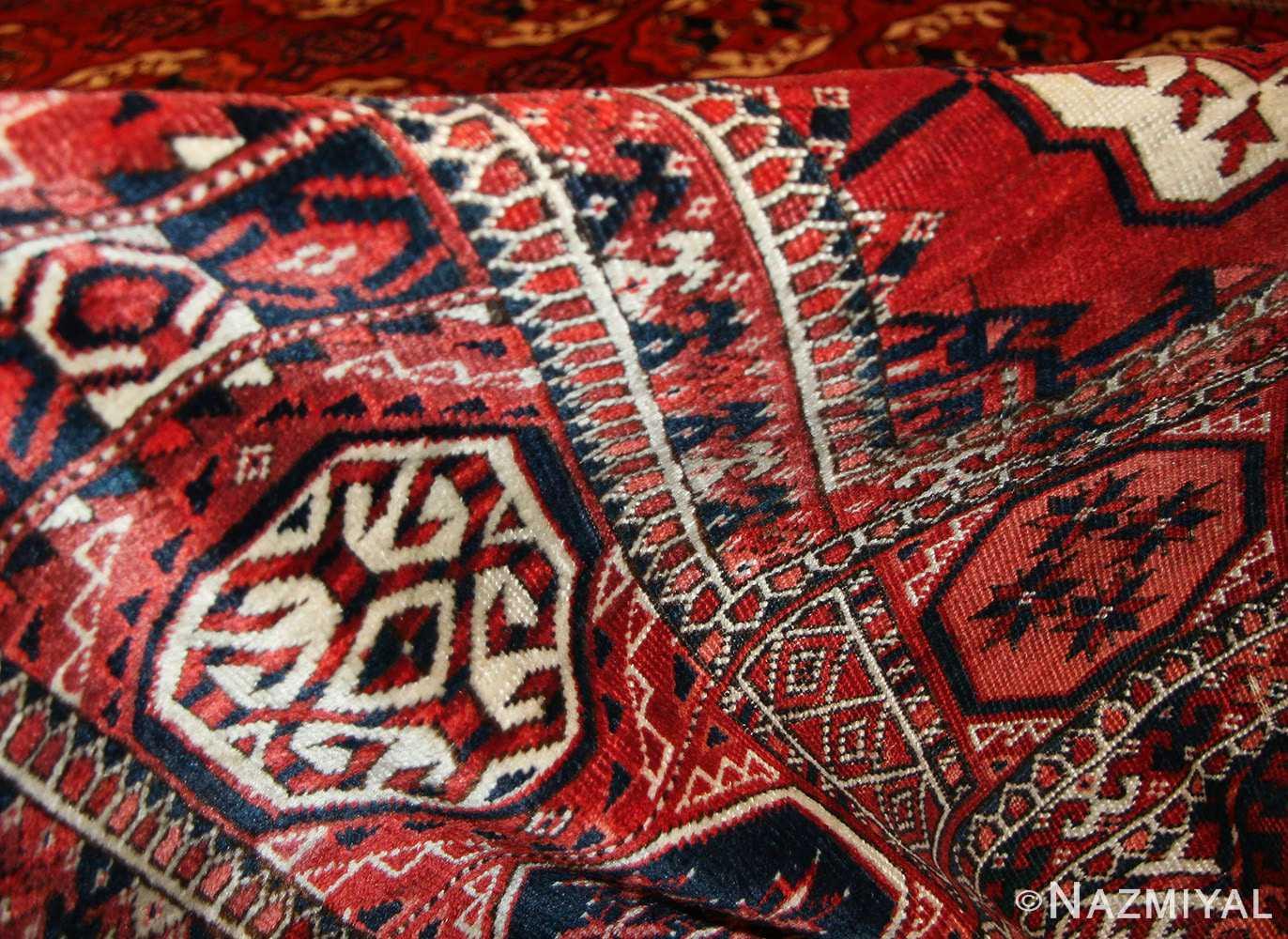tribal antique room size caucasian turkoman bokara rug 50526 pile Nazmiyal