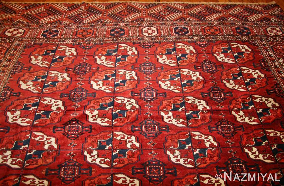 tribal antique room size caucasian turkoman bokara rug 50526 top Nazmiyal