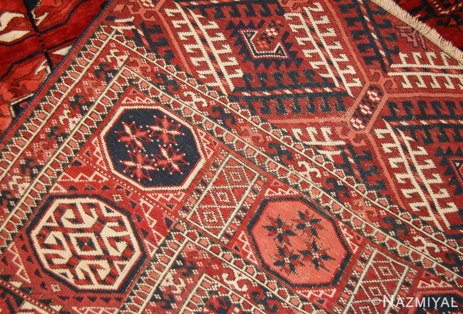 tribal antique room size caucasian turkoman bokara rug 50526 weave Nazmiyal