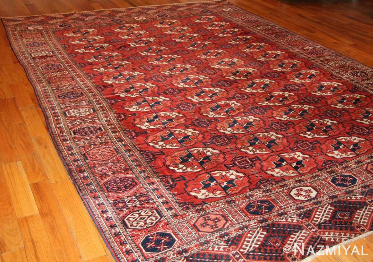 tribal antique room size caucasian turkoman bokara rug 50526 whole Nazmiyal