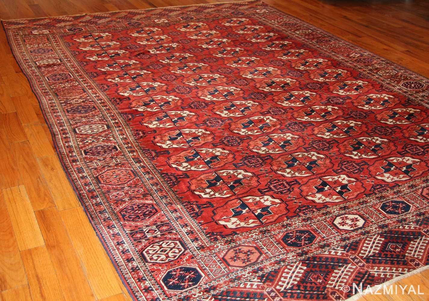 tribal antique room size caucasian turkoman bokara rug 50526 whole Nazmiyal