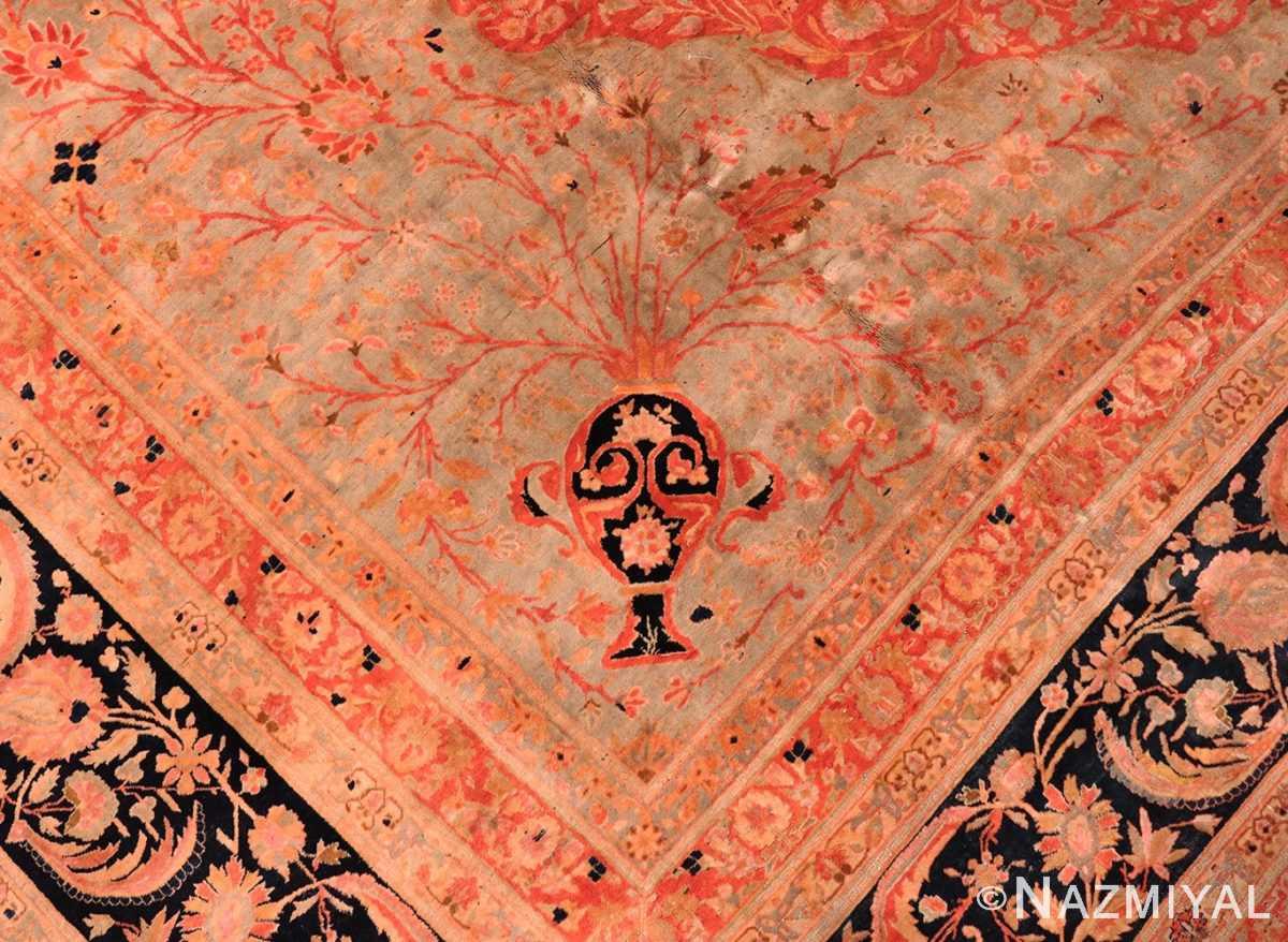 Vase detail large Persian Mohtashem Kashan rug 48844 by Nazmiyal