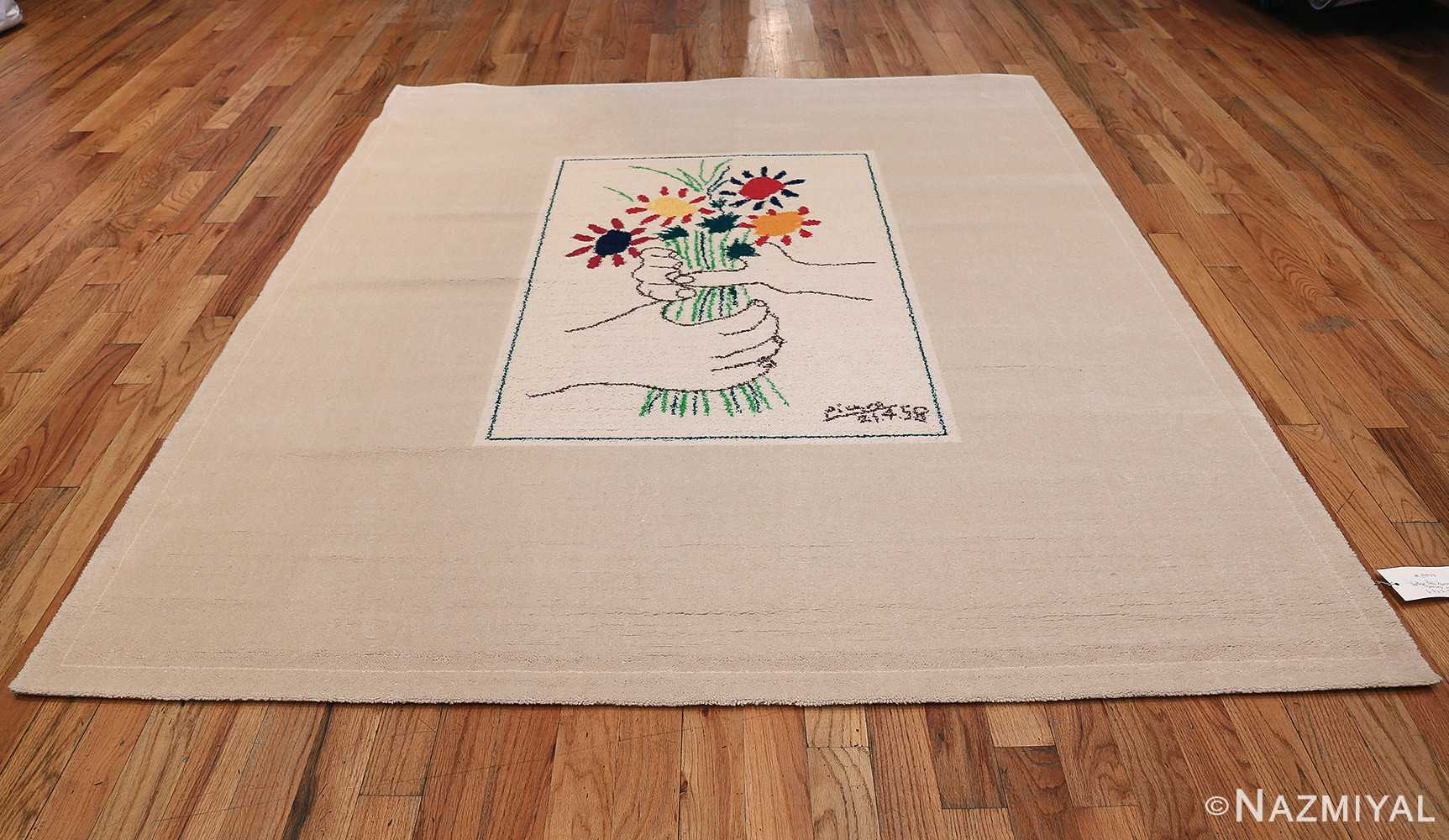 Vintage Le Bouquet Wall Tapestry Rug by Artist Pablo Picasso 48958 Whole Design Nazmiyal