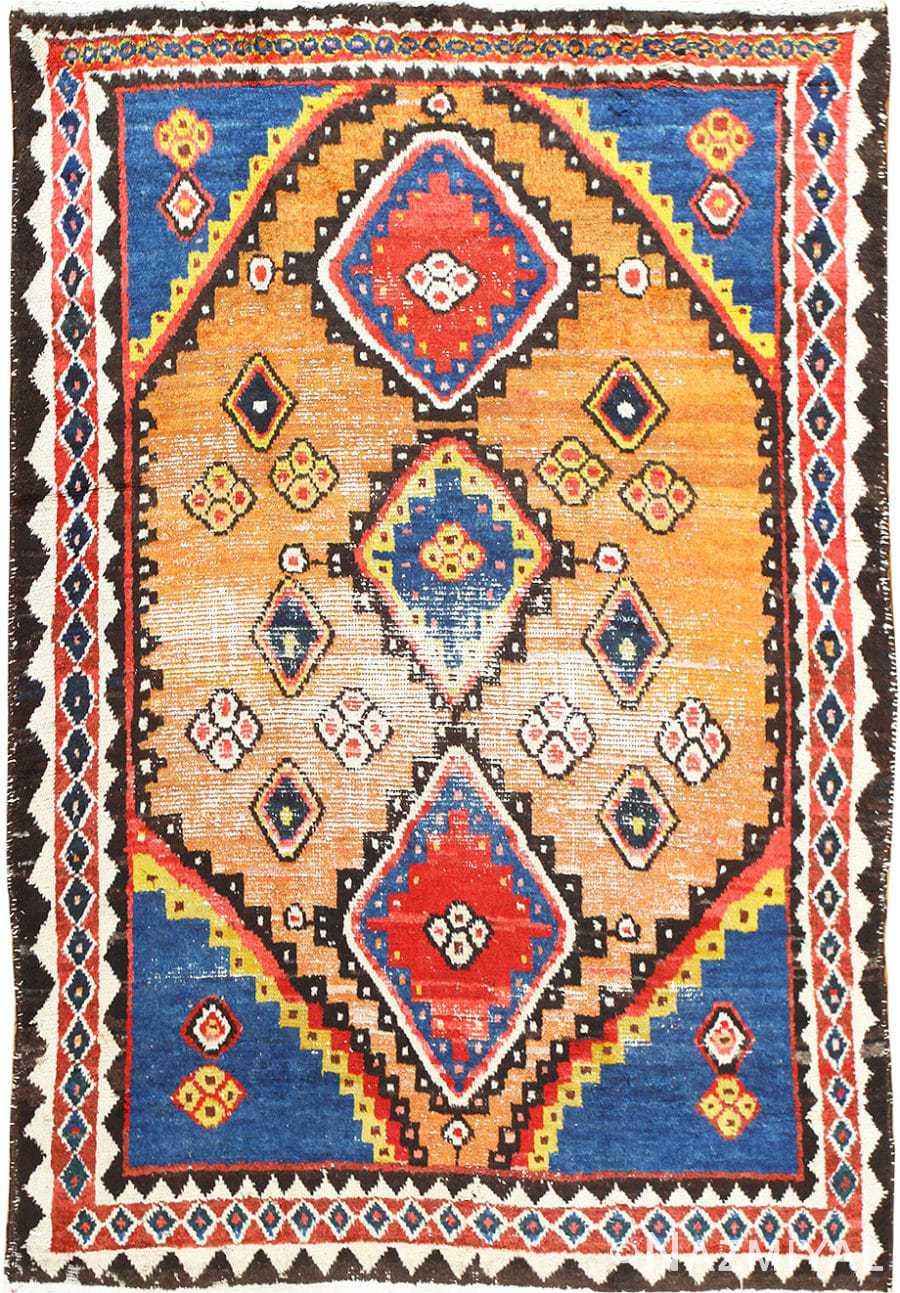 Vintage Tribal Shabby Chic Persian Gabbe Rug 48971 Nazmiyal