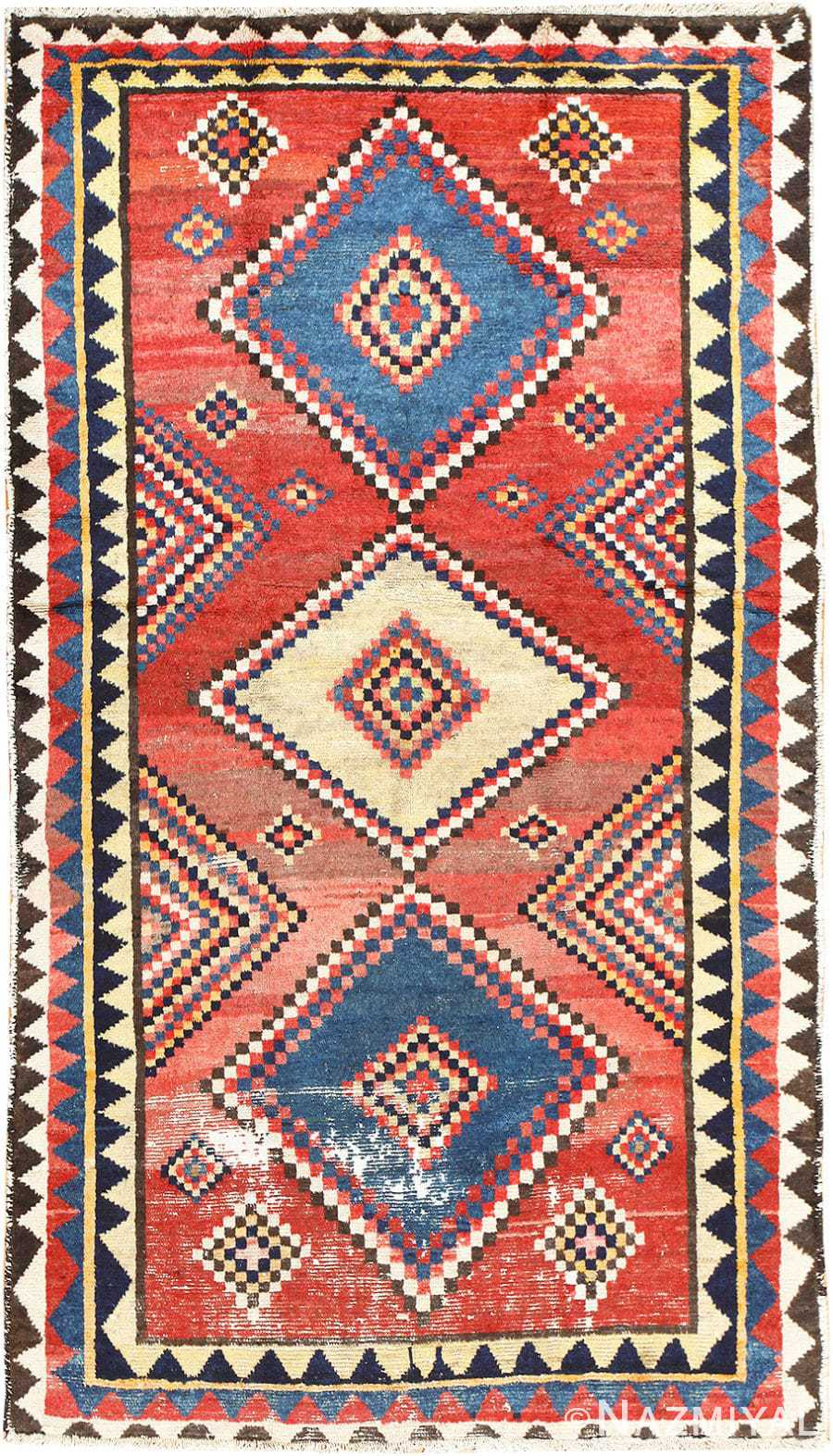 Vintage Tribal Shabby Chic Persian Gabbeh Rug 48966 By