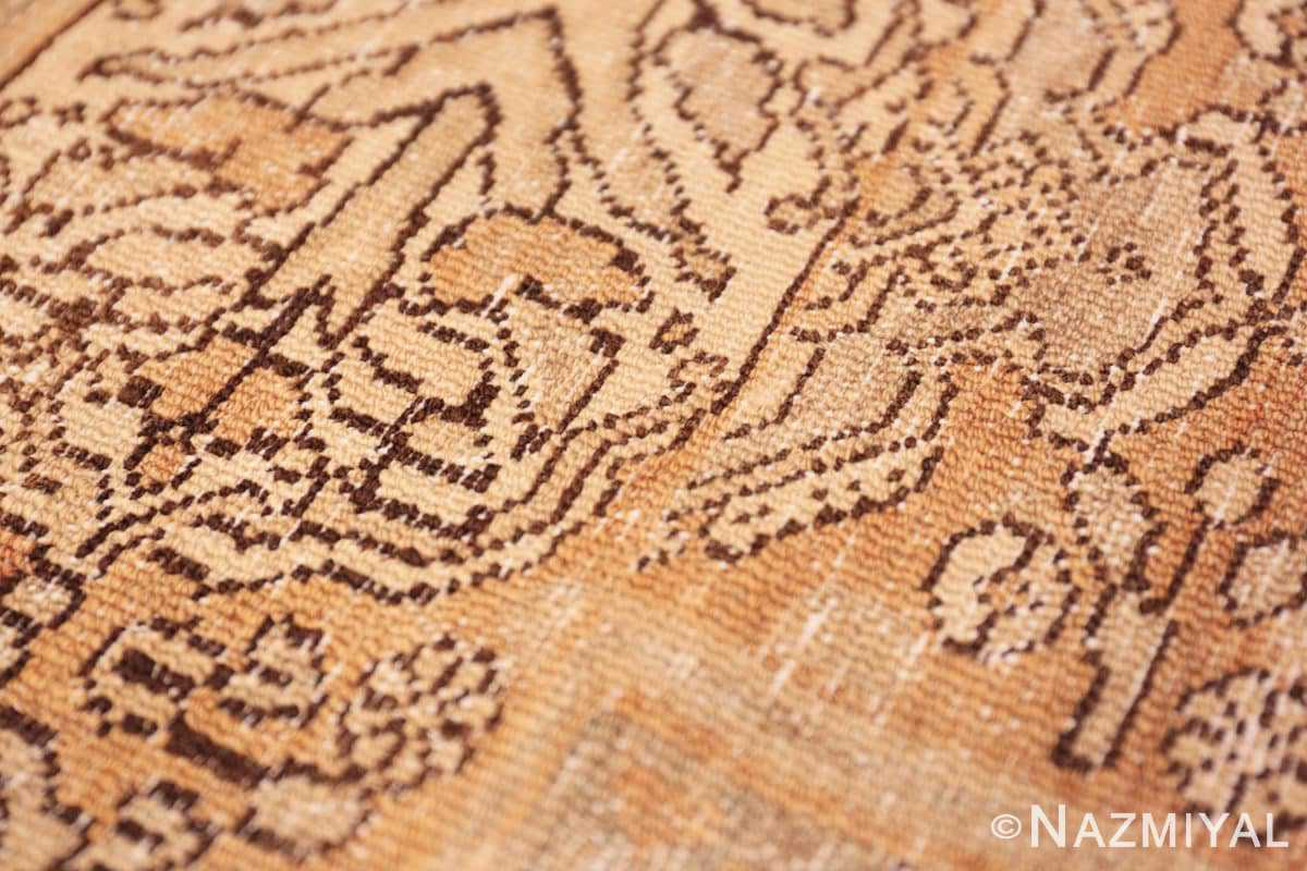 Weave detail Decorative Antique Persian Bibkabad Shabby chic rug 50680 by Nazmiyal
